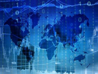 stock market world map