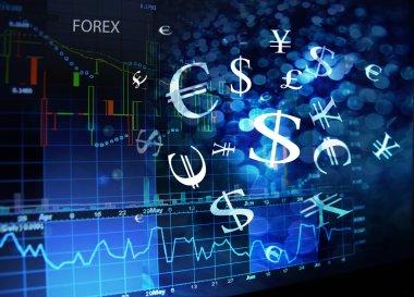 Forex screen stock vector