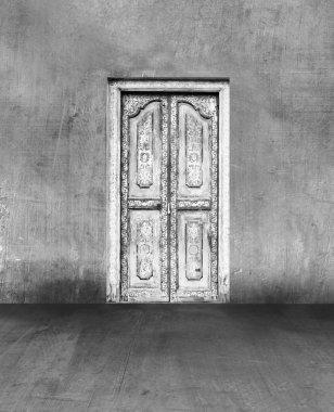 doors in concrete wall