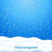 Photo Falling Snow. Blue Winter Background