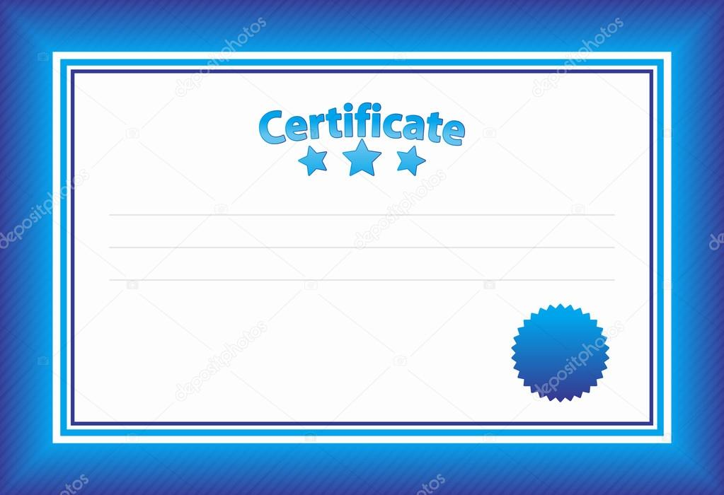 Blue Certificate Template Stock Vector Sergt 39286695