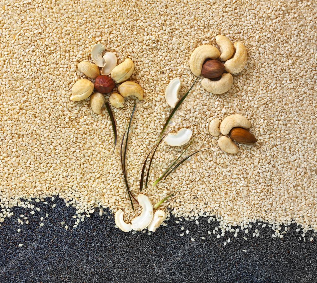 Composition from different nuts
