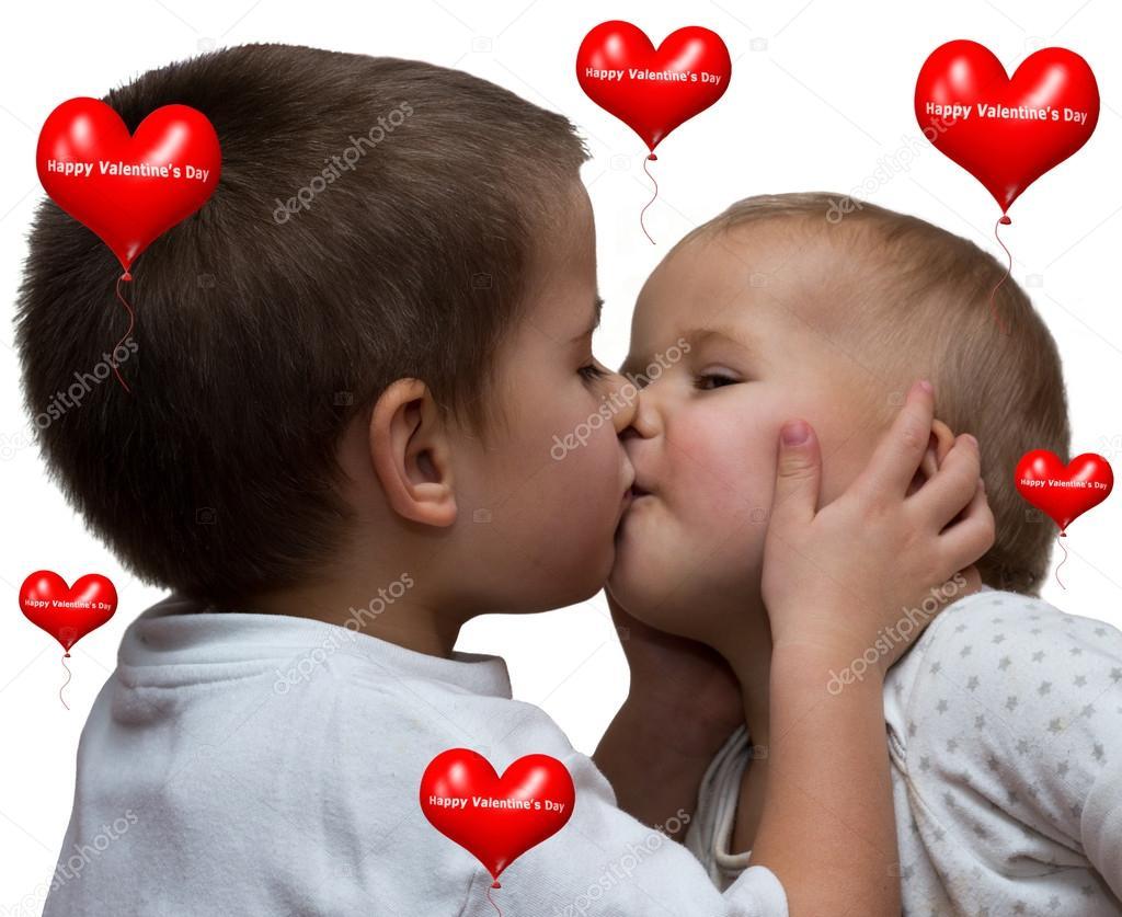 Boy and girl kiss stock photo blumer 1979 20393139 little boy kissing little girl on white background photo by blumer 1979 altavistaventures Choice Image