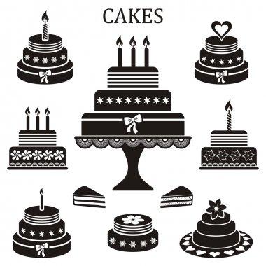 Birthday and wedding cakes