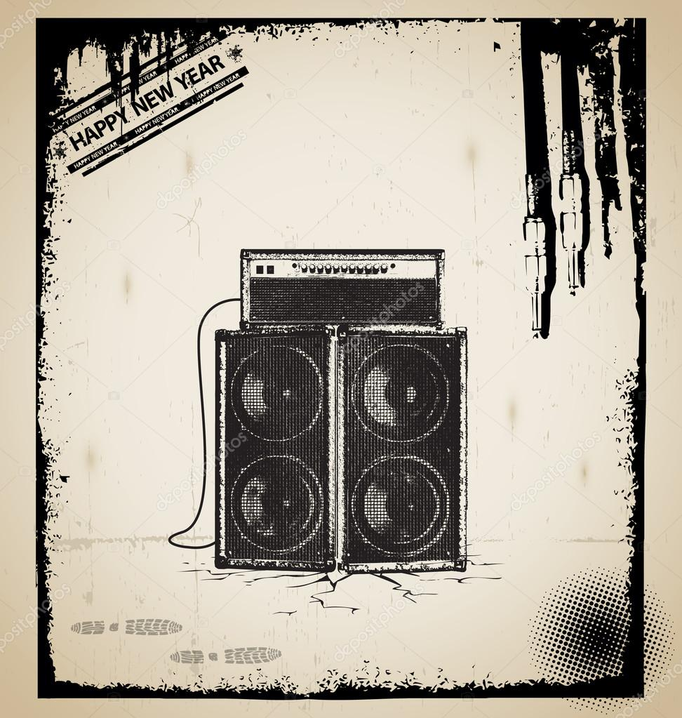 Old music elements vector