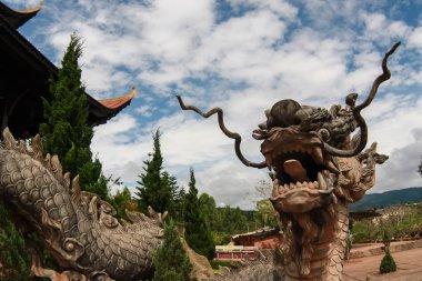 Dragon statue in Asia pagoda