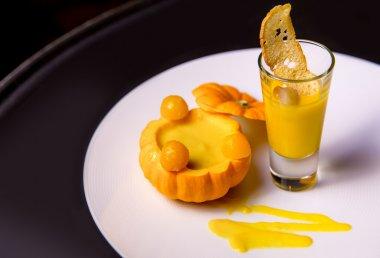 High cuisine pumpkin soup