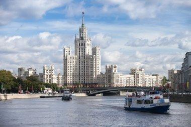 Stalin skyscraper at Kotelnicheskaya Embankment in Moscow