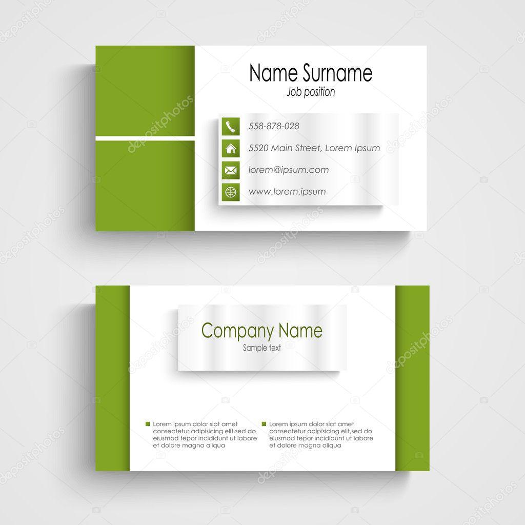 Modern green light business card template stock vector plisman modern green light business card template stock vector cheaphphosting Images
