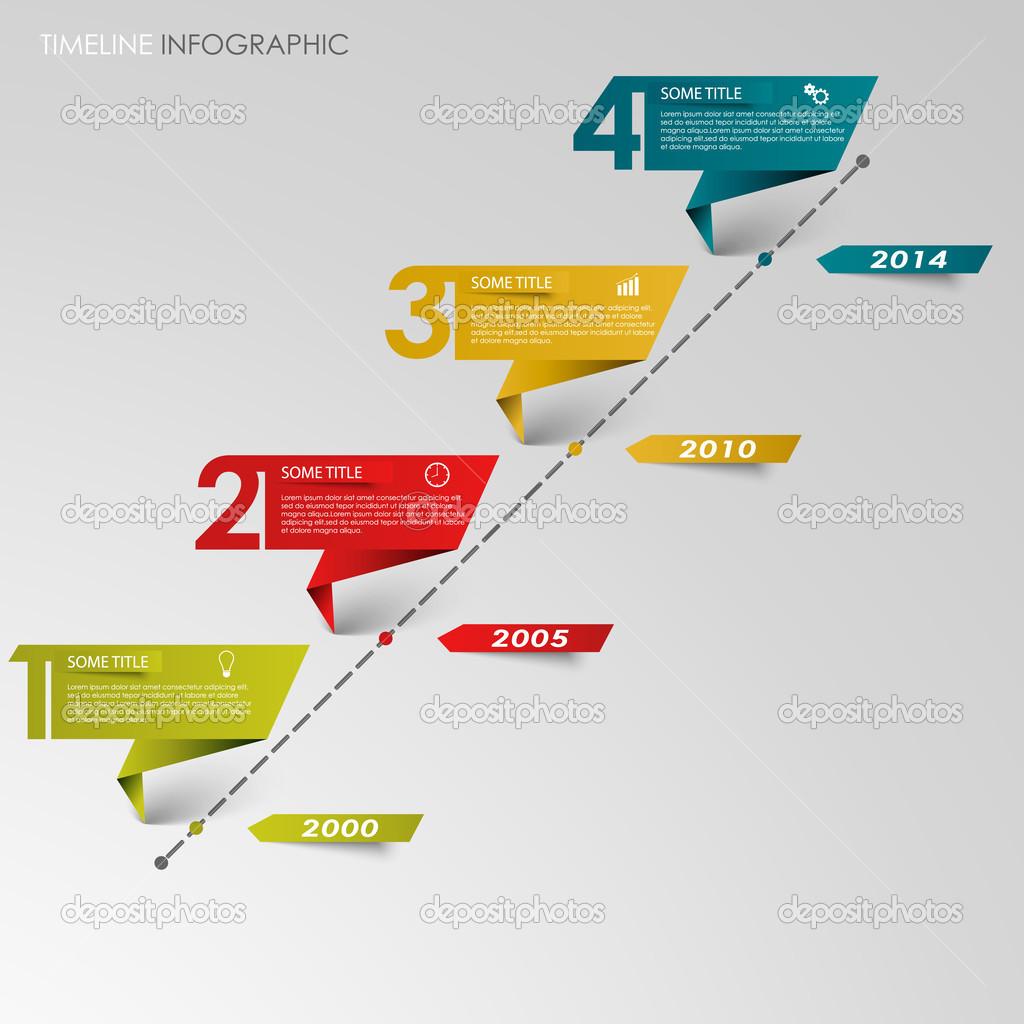 Czas Wiersz Informacji Graficzny Kolorowy Papier Składany
