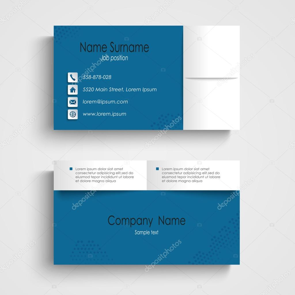 Modern sample blue business card template — Stock Vector © Plisman ...