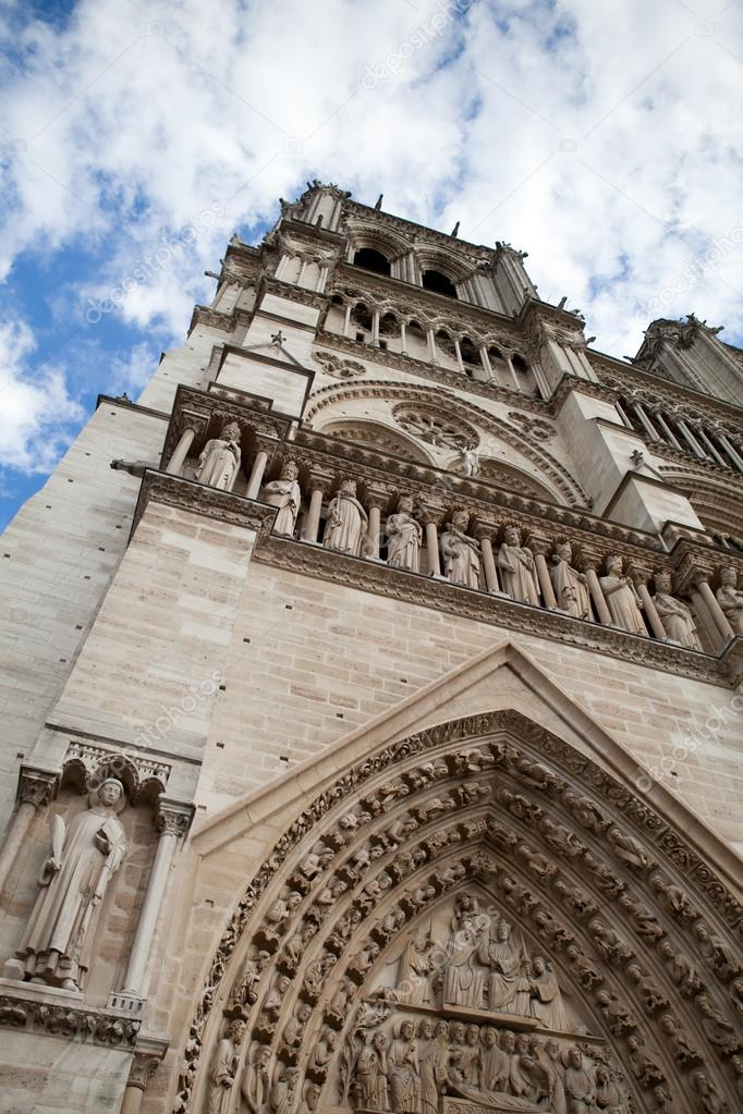 Marco Gótica Catedral notre-dame em citar a ilha em paris fra ...