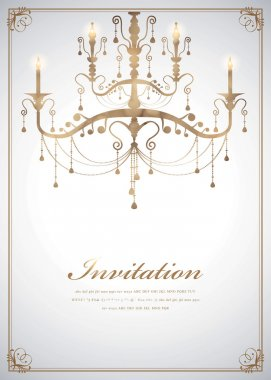 Luxury Chandelier background 08