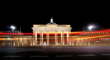 Brandenburg Gate at night, a former city gate