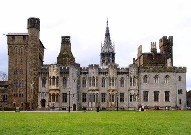 Cardiff castle & inside gardens. Wales.