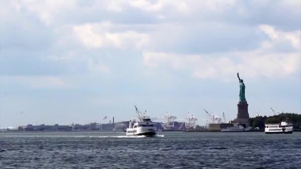 Szabadság-szobor, a szabadság-sziget közepén new York-i kikötő, manhattan szobra.