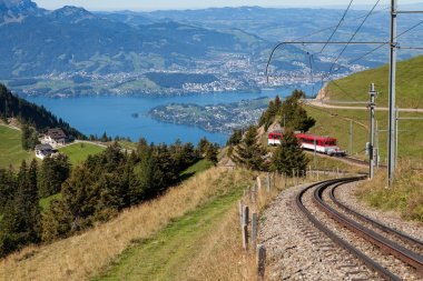 Mountain railway on Mt. Rigi