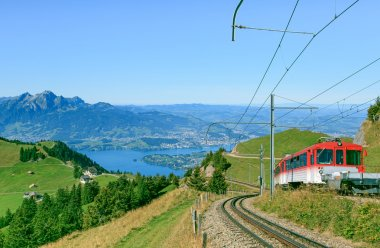 Rack railroad on Mt. Rigi