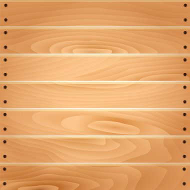 Vector realistic wood background.