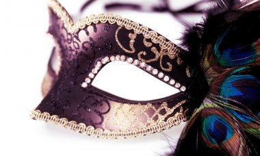 carnival mask isolated on white background