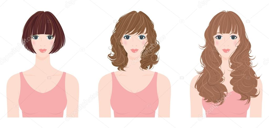 Hairstyle / Woman / Illustration
