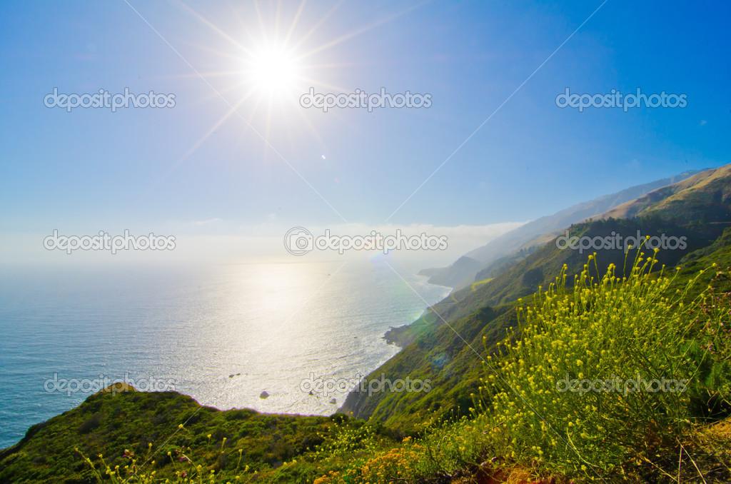Scenic Vista on California State Route 1 — Stock Photo