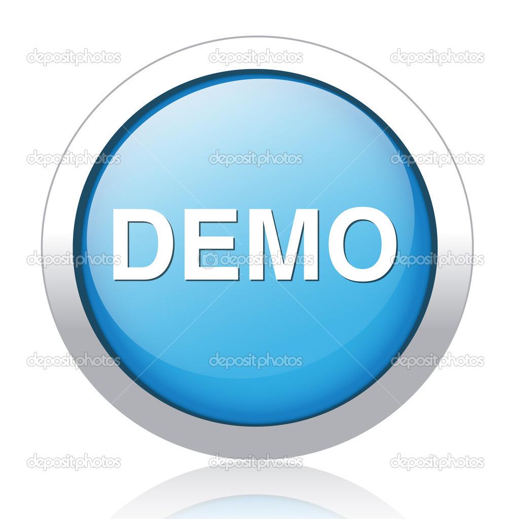 Серебряно-голубая кнопка DEMO: векторное изображение © sarahdesign85 |  Рисунок 41584423 | Depositphotos