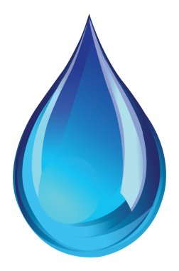 Green water droplet icon