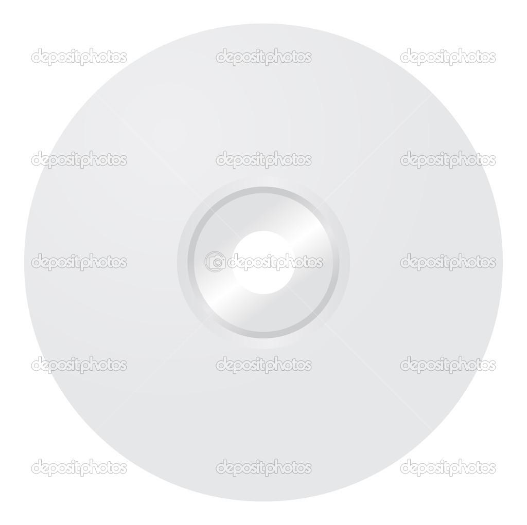 plantilla cd en blanco — Archivo Imágenes Vectoriales ...