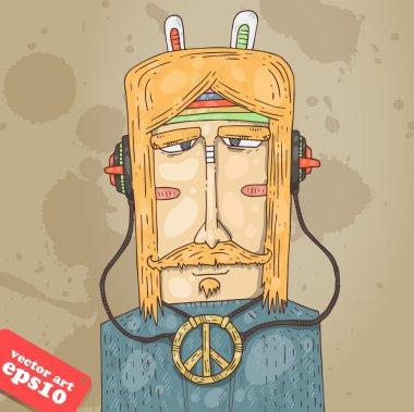 Vector hippie