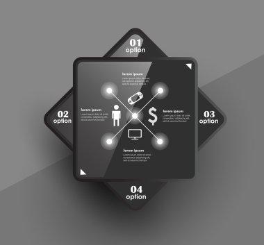 """Картина, постер, плакат, фотообои """"концептуальный векторный шаблон дизайна. инфографический элемент"""", артикул 26478831"""