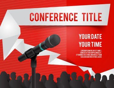 Conference tamplate illustration with space for your texts clip art vector