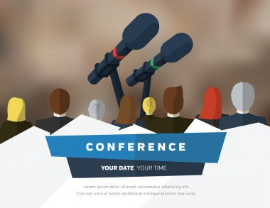 Conference template illustration