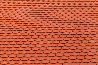 New red roof tiles