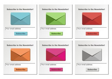 Subscribe to the newsletter form - white background