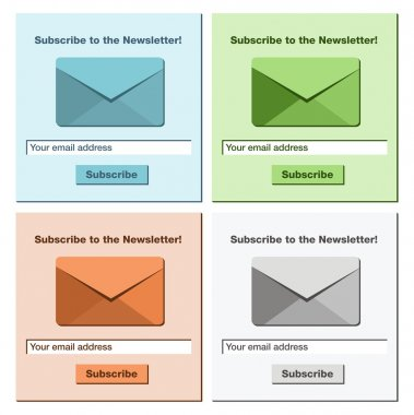 Subscribe to the newsletter form - website element