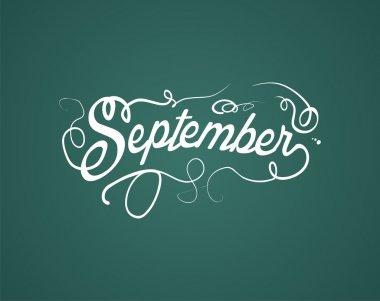 September hand lettering