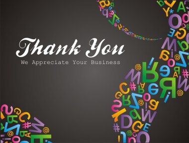 Alfabet pattern thank you we apreciate your business