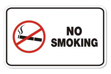 No smoking sign - rectangle sign