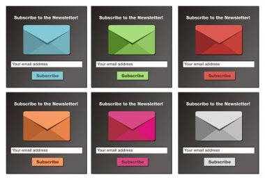 Subscribe to the newsletter form - black background