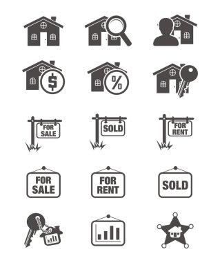 Real estate silhouette icon