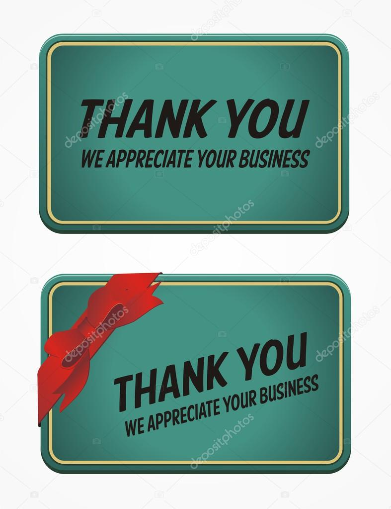 Business card - thank you for your business — Stock Vector ...