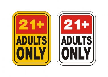 21 plus for adults only signs