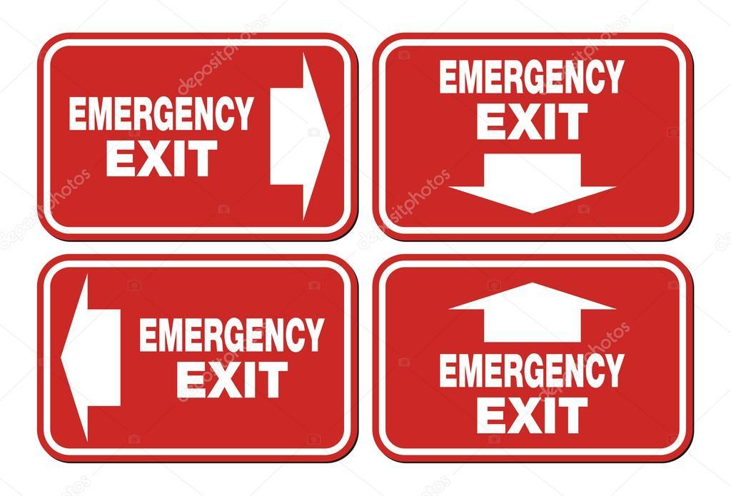 Señal De Salida De Emergencia Signos