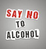 Fényképek mondani, hogy nem alkohol poszter