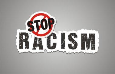 Stop racism poster, beckdrop, banner