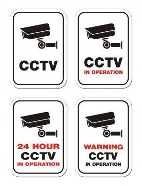 Warning CCTV in operation - warning signs