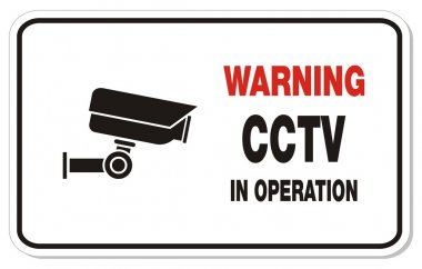 Warning cctv in operation - rectangle sign