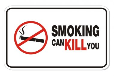 Smoking can kill you sign - rectangle sign