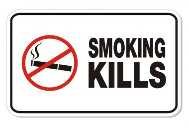 Smoking kills sign - rectangle sign